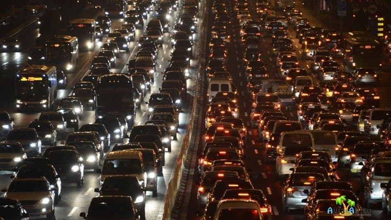Пробки на дорогах в Китае