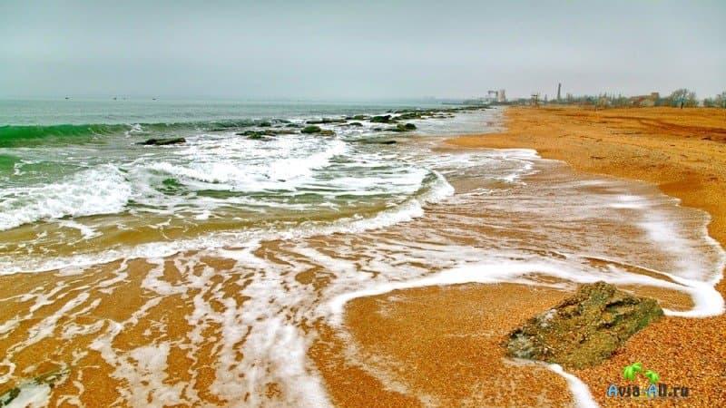 Крым Феодосия золотой пляж