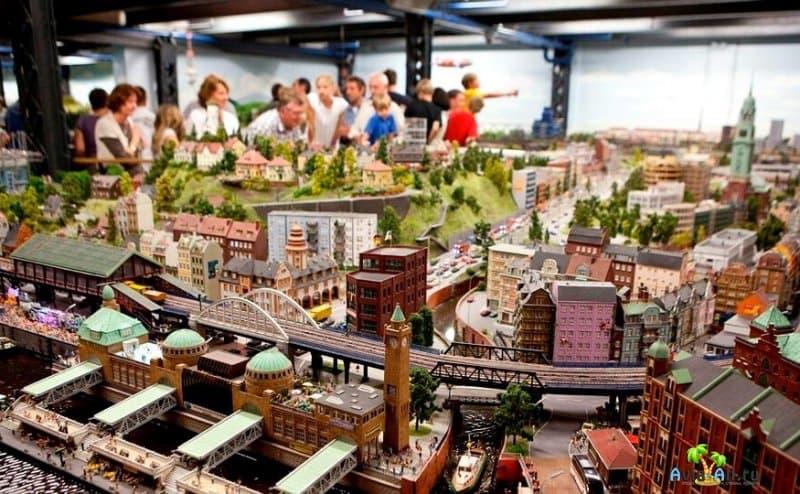 Миниатюрная железная дорога в Гамбурге