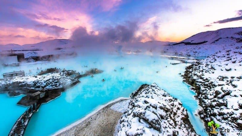 Исландия озеро Голубая лагуна