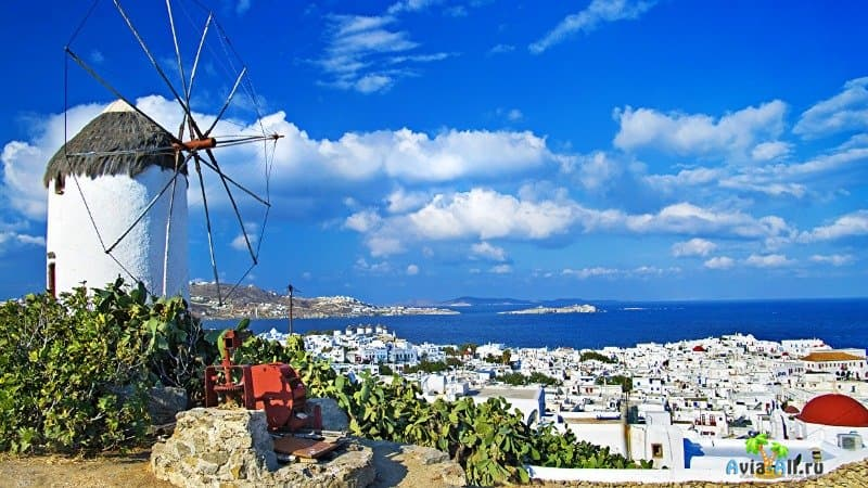 Остров Миконос в Греции