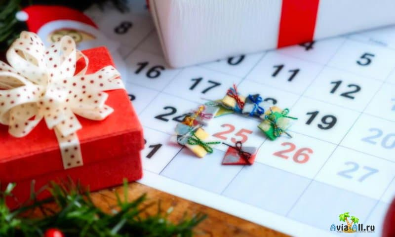 Новогодние каникулы в России и в Европе